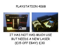 PS3 PLAYSTATION 3 (FAULTY BLURAY DRIVE)