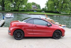 Convertible Peugeot 207cc, Alloy wheels, Privacy Glass, Low Mileage. Great summer car. Head turner