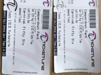 Carnival 56 weekend tickets x2 (lower than face value)