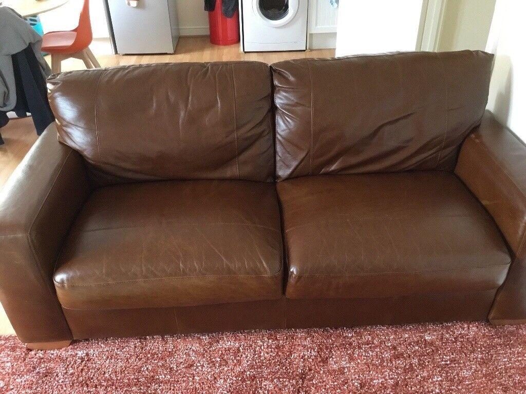 argos heart of house eton 3 seater leather sofa brown. Black Bedroom Furniture Sets. Home Design Ideas