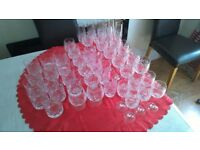 Collection of 46 Crystal Cut Glasses