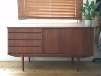 mid-century solid wood sideboard