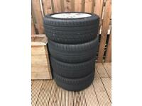 Audi 17 alloys and tyres