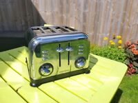 Morphy Richards 4 slice silver toaster