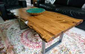 Live Edge Provincial Coffee Table