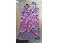 Mantaray sun dress Pink floral size 16