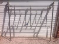 King sized headboard reproduction antique brass