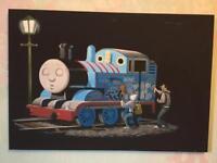 Banksy Thomas the Tank Engine canvas