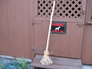 VINTAGE HANDMADE STRAW BROOM - REDUCED!!!!