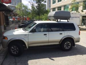 1999 Mitsubishi Montero + Cargo Roof + Camping Gear