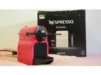 Krups Inissia Pink Coffee Machine with free espresso cups