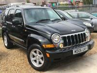 JEEP CHEROKEE 3.7 V6 LIMITED AUTO Black AMERICAN MUSCLE 4X4 Petrol 2006 (06)