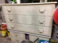 Italian chest of drawers and bedside cabinets