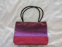 Ladies Pink 100% Silk Handbag