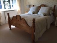 Old Pine King Size Bed Frame beautiful statement piece