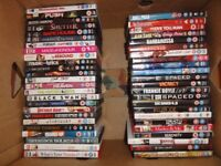 large collection of dvds,