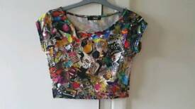 Colourful crop top