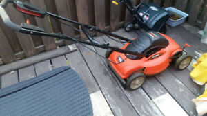 """18"""" Electric """"LAWNHOG™"""" Mulching Mower with Flip-Over Handle"""