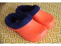 Fleece lined sandals- Brand new!