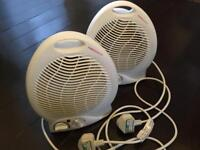 2 electric fans - cool and hot settings