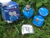 portable gas stove plus spare cartridges
