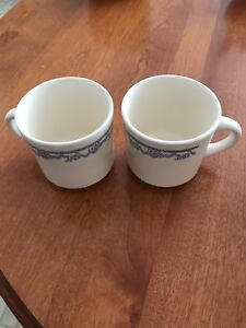 Set of 2 Mugs - White and Blue