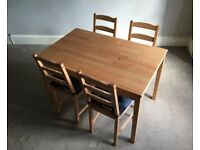 Kitchen Table & Chairs, IKEA JOKKMOKK, Excellent Condition, Must Go By Wednesday