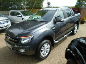 2015 65 Reg Ford Ranger 3.2TDCi (200PS) Wildtrak Double Cab (19000 MILES) NO VAT