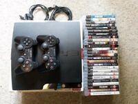 120GB PS3 Slim - 2 Controllers - 26 Games - Original Box