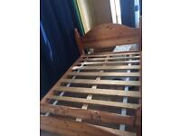 Solid wood king size bed with or without mattress