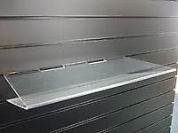 4 Slatwall Acrylic V shelf shop display 60cm