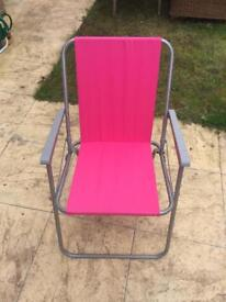 Pink Deck Chairs (x5)