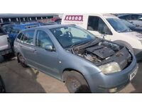 2001 SKODA FABIA COMFORT 8V, 1.4 PETROL, BREAKING FOR PARTS ONLY, POSTAGE AVAILABLE NATIONWIDE