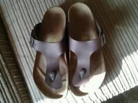 Mens brown birkenstocks size 8
