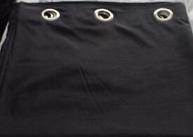 Black Silk Lined Curtains. Very Good Condition. 90 ins X 87 ins £15