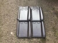 Clay Roof Tiles Courtrai Pottelberg model 44 Anthracite. 400+ unused and surplus.