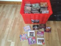 Box of CD's for sale approximately 200. Own collection mainly chart stuff mixed.