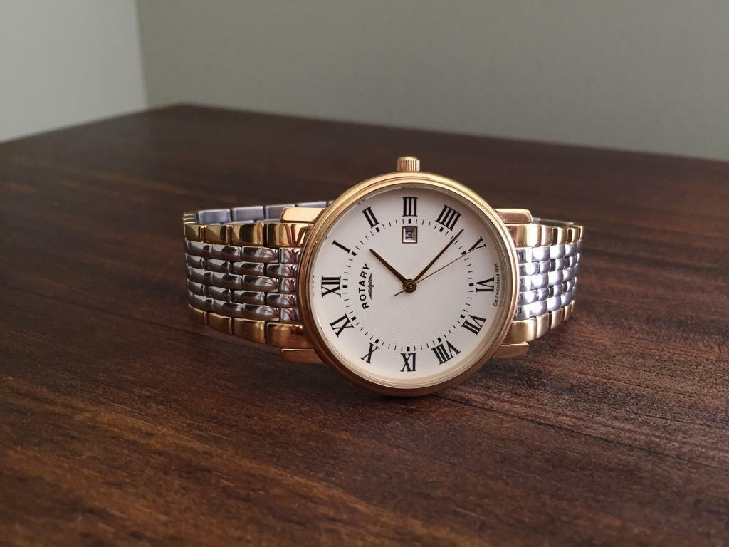 Rotary Watch Siver Gold Quartz