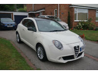 ALFA ROMEO MITO 1.3 WHITE WITH BLACK ROOF, FREE RD TAX, FANTASTIC CONDITION