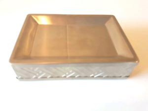 Springmaid Ellington SOAP DISH - Non-slip base. Metal. low price