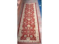 Chinese rug/runner red floral