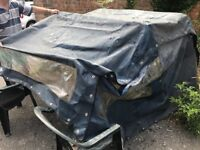 Bimini Hood / Canopy For Boat, Stainless Steel Frame And Cover In Excellent Condition