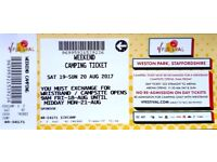 V festival 2017 General access tickets,weekend camping,parking,Weston Park 19-20