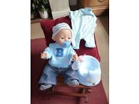 Baby Born interactive boy doll plus extras and musical potty Shipley