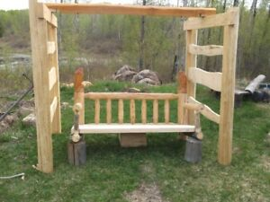 10  LOG  BENCHES  BEDS  PICNIC TABLES. coffee tables