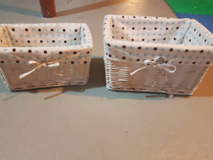 Wicker basket for Baby Boys room