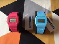 Pink & Blue Casio Watches