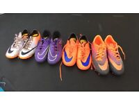 Football boots. Sizes 3, 3.5, 5, 6.