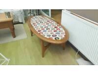 Retro 1960s or 1970s oval teak coffee table