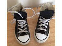 Converse High Tops Black size 2
